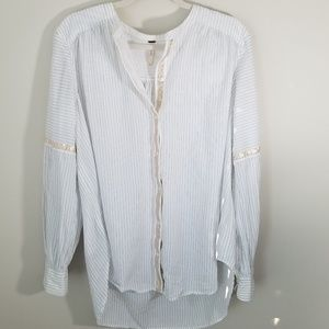 Free people thin stripe poet blouse tunic